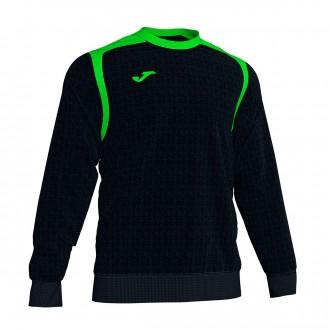 Sweatshirt Joma Champion V Preto-Verde flúor