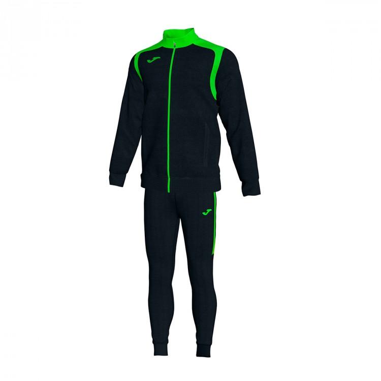 Chándal Joma Champion V Negro-Verde flúor - Leaked soccer 319f4d3de6203