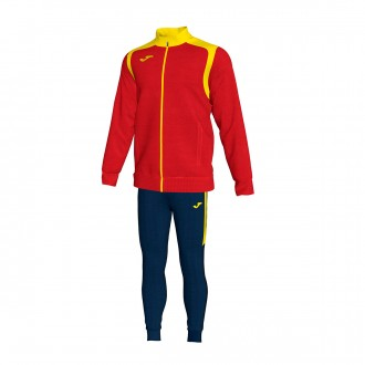Tracksuit  Joma Champion V Red-Yellow