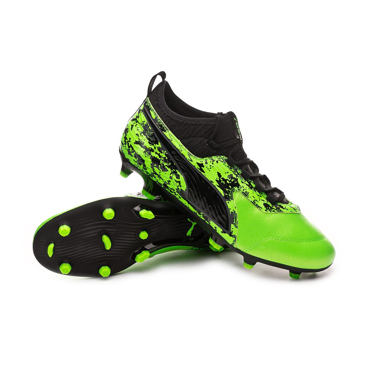 c044e6df4 Football Boots Puma One 19.3 FG/AG Green gecko-Puma black-Charcoal gray -  Football store Fútbol Emotion