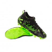 Zapatos de fútbol Future 19.3 FG/AG Niño Puma black-Charcoal gray-Green gecko