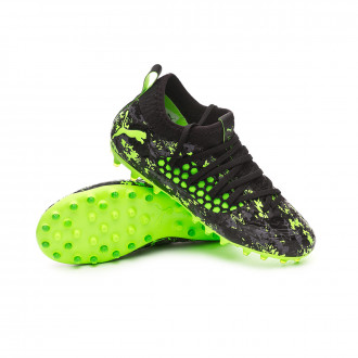 Scarpe   Puma Future 19.3 MG Niño Puma black-Charcoal gray-Green gecko