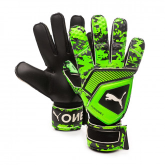 Guante  Puma One Grip 1 RC Puma black-Charcoal gray-Green gecko