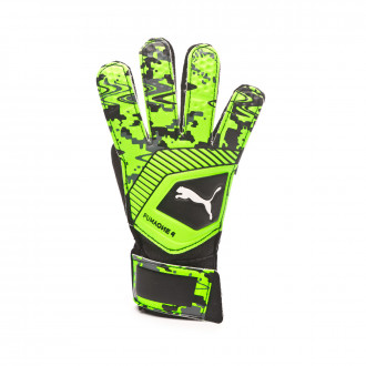 Guante Puma One Grip 4 Puma black-Charcoal gray-Green gecko
