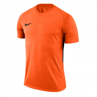 Camiseta  Nike Tiempo Premier m/c Niño Safety orange-Black
