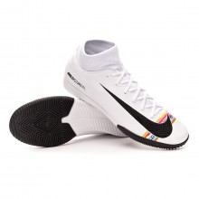 Zapatilla Mercurial SuperflyX VI Academy LVL UP IC White-Black-Pure platinum