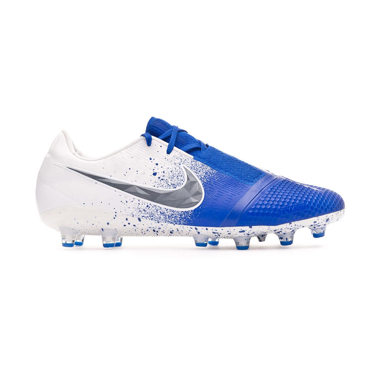 d9c5f0d6e66 Football Boots Nike Phantom Venom Elite AG-Pro White-Black-Racer blue -  Football store Fútbol Emotion