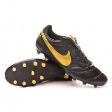 Zapatos de fútbol Tiempo Premier II FG Black-Metallic vivid gold-Black