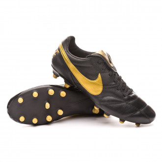 Football Boots  Nike Tiempo Premier II FG Black-Metallic vivid gold-Black