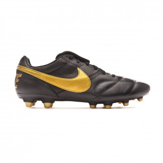 Football Boots Nike Tiempo Premier II FG Black-Metallic vivid gold-Black
