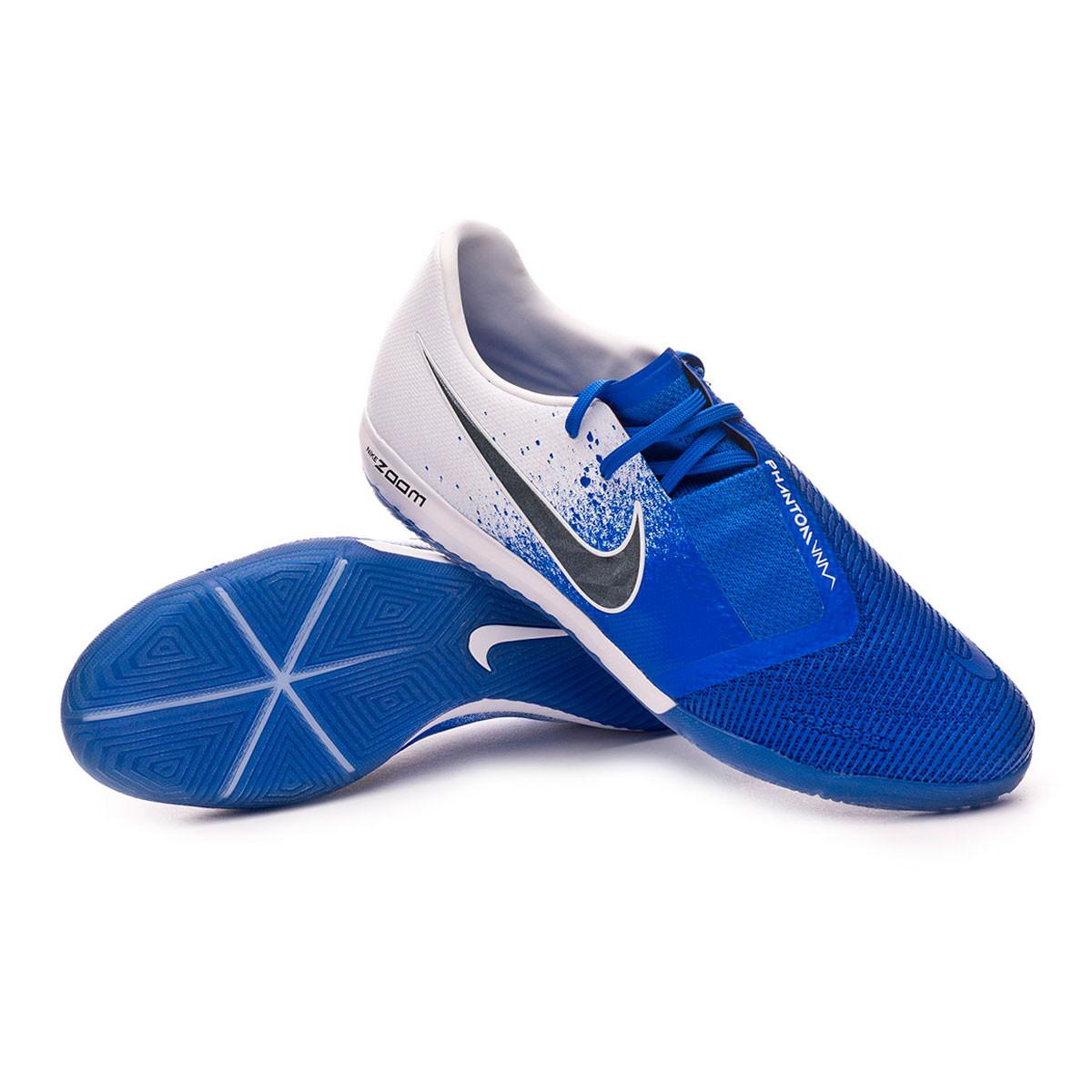 Malawi roto Inferior  Futsal Boot Nike Zoom Phantom Venom Pro IC White-Black-Racer blue -  Football store Fútbol Emotion