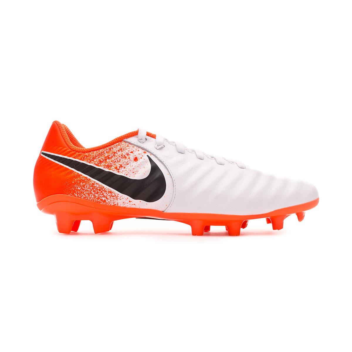 e1b3c02d047 Football Boots Nike Tiempo Legend VII Academy FG White-Black-Hyper crimson  - Football store Fútbol Emotion