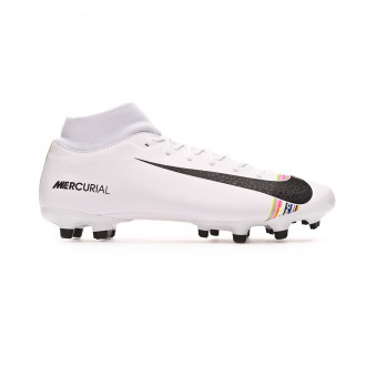 Chuteira Nike Mercurial Superfly VI Academy LVL UP MG White-Black-Pure platinum