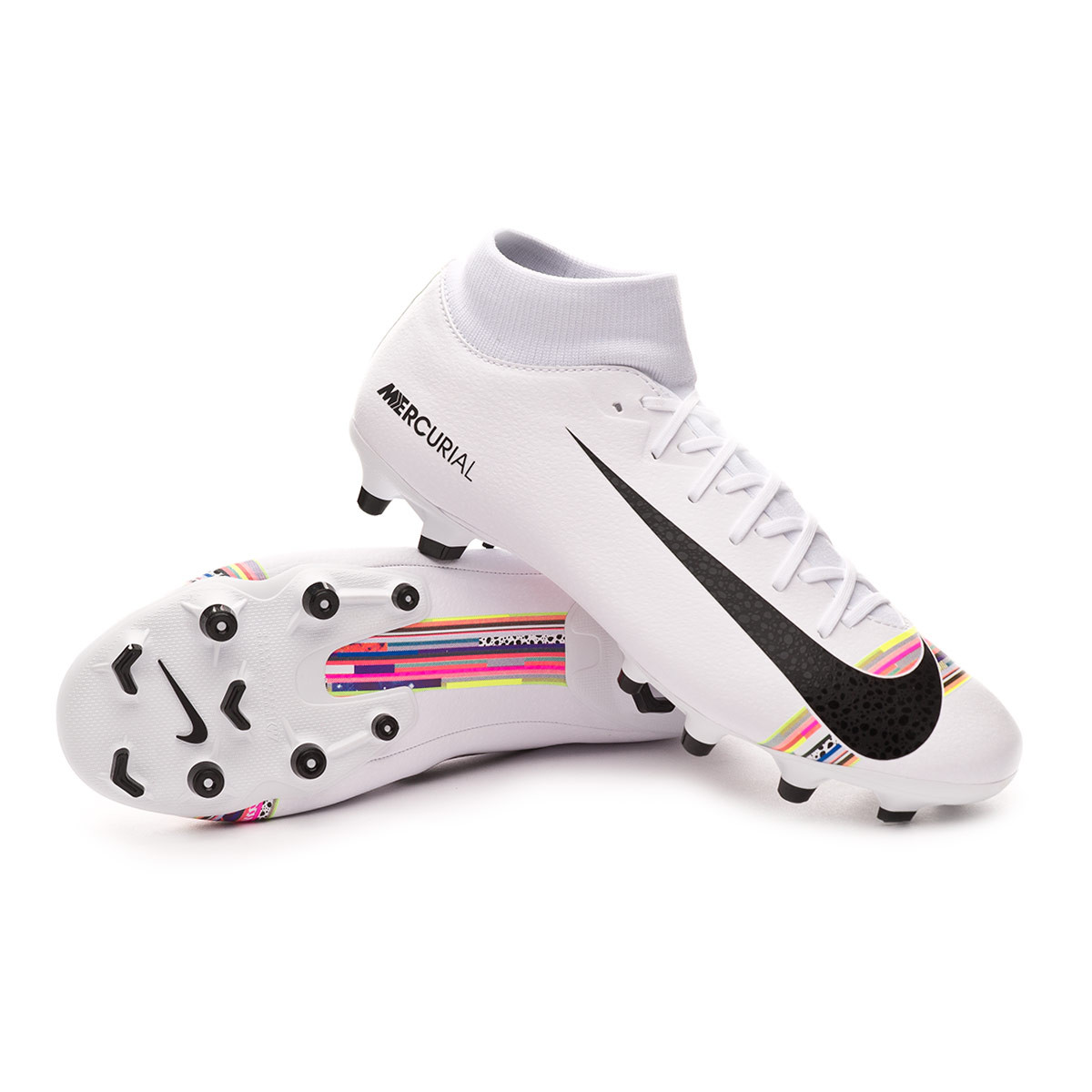 new product af0e6 50834 Bota Mercurial Superfly VI Academy LVL UP MG White-Black-Pure platinum