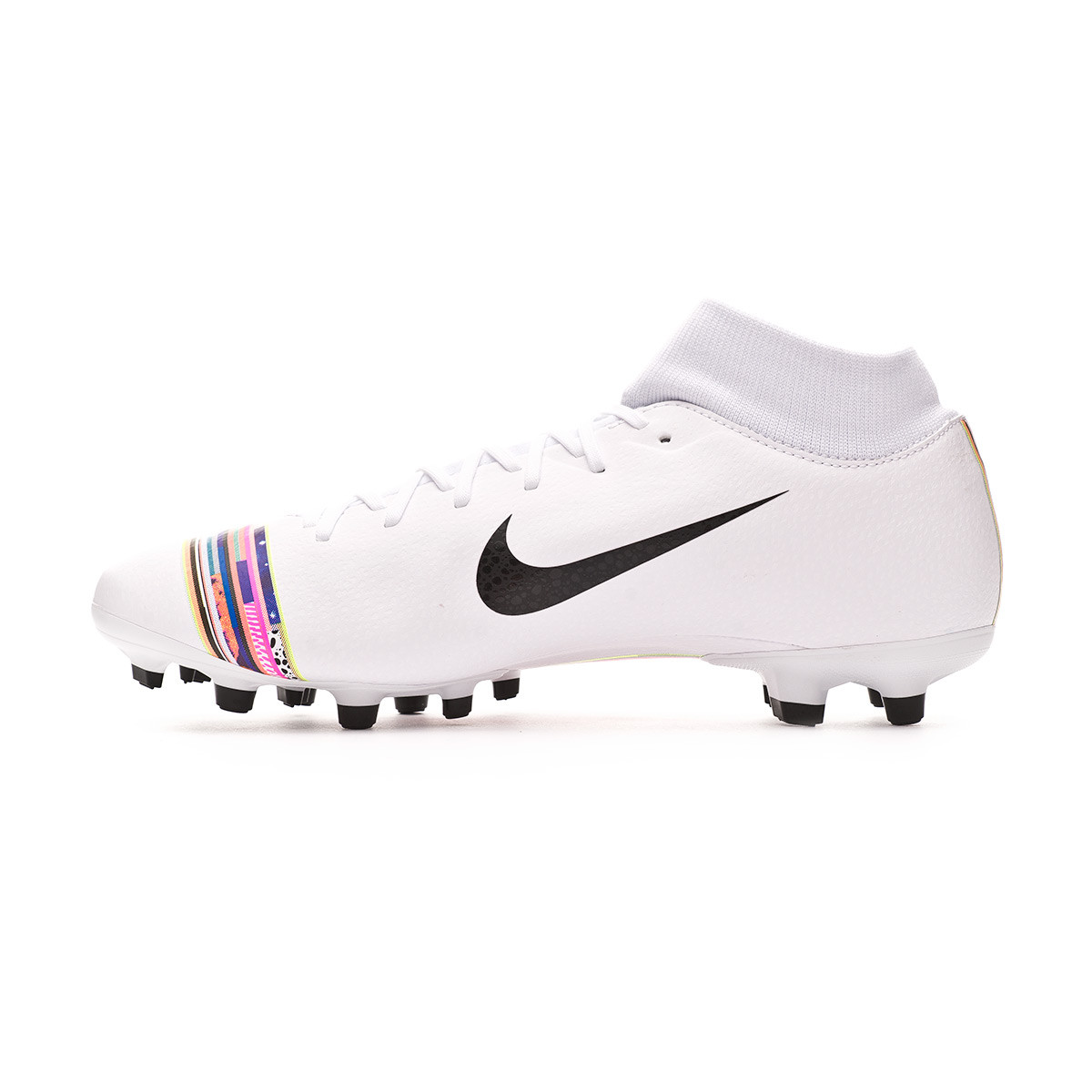 c9c9bb3b2bf67 Football Boots Nike Mercurial Superfly VI Academy LVL UP MG White-Black-Pure  platinum - Football store Fútbol Emotion
