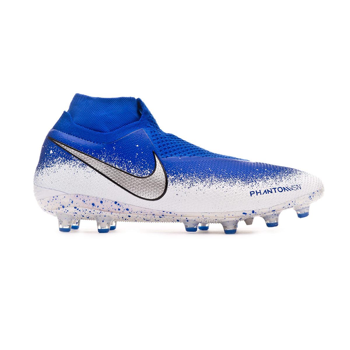 99eb5382d Football Boots Nike Phantom Vision Elite DF AG-Pro Racer blue-Chrome-White  - Football store Fútbol Emotion