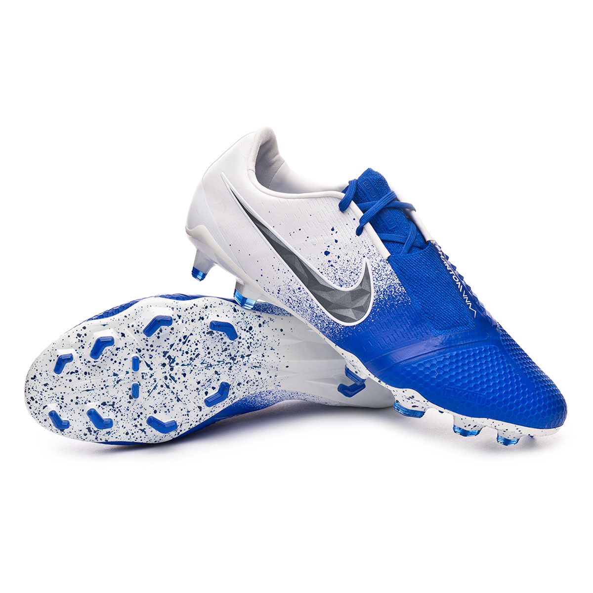 3ffe55bb99 Football Boots Nike Phantom Venom Elite FG White-Black-Racer blue ...