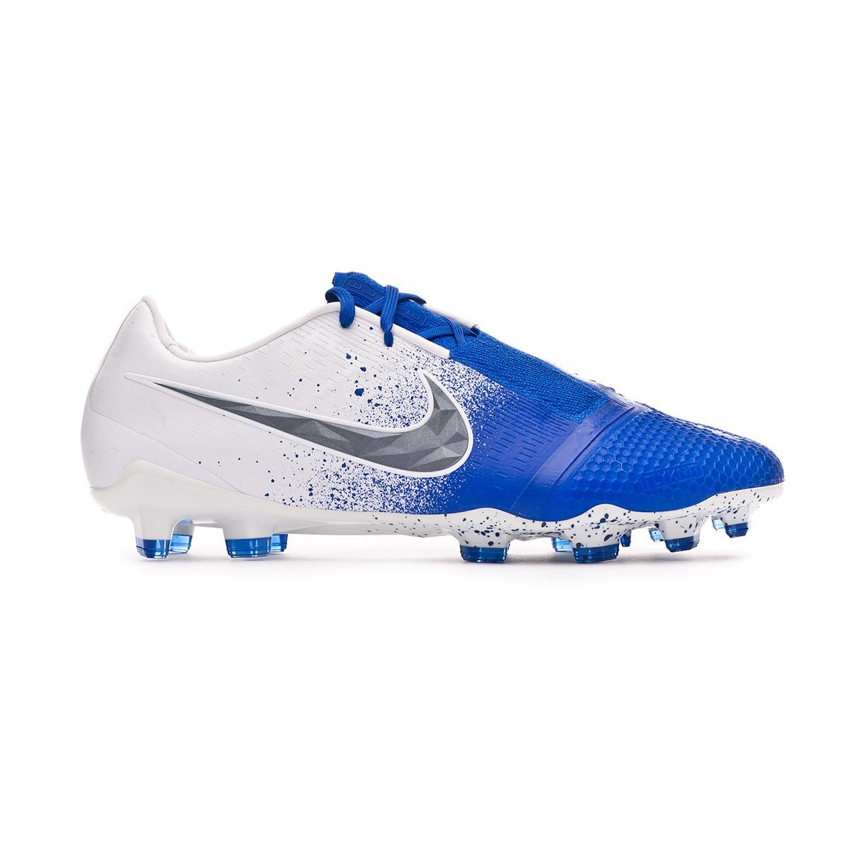 ff14ddd80 Football Boots Nike Phantom Venom Elite FG White-Black-Racer blue - Football  store Fútbol Emotion