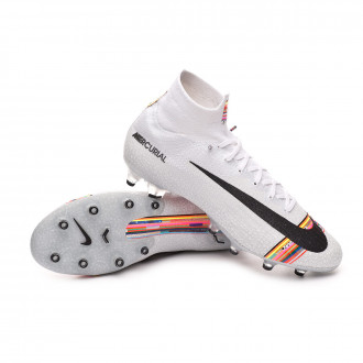 Chuteira  Nike Mercurial Superfly VI Elite LVL UP AG-Pro White-Black-Pure platinum