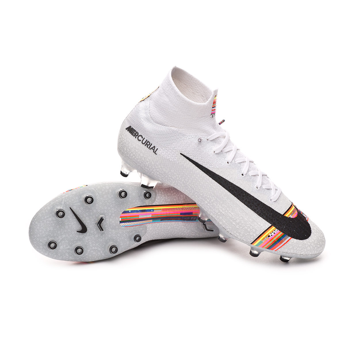 c3f2529530f94 Zapatos de fútbol Nike Mercurial Superfly VI Elite LVL UP AG-Pro  White-Black-Pure platinum - Tienda de fútbol Fútbol Emotion