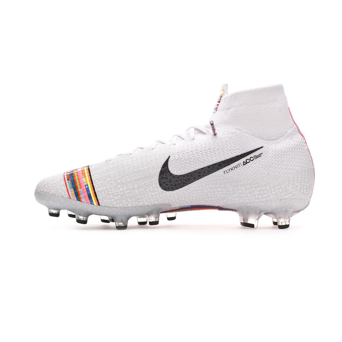brand new 37170 ee9d6 Bota Mercurial Superfly VI Elite LVL UP AG-Pro White-Black-Pure platinum