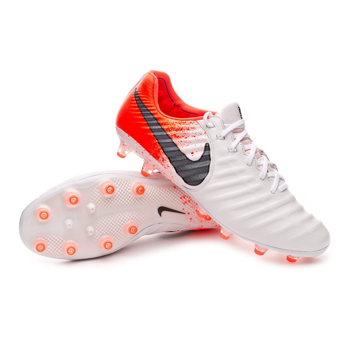 Bota Tiempo Legend VII Elite AG Pro White Black Hyper crimson