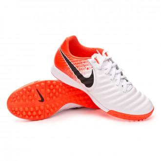 Football Boot  Nike Tiempo LegendX VII Academy Turf White-Black-Hyper crimson