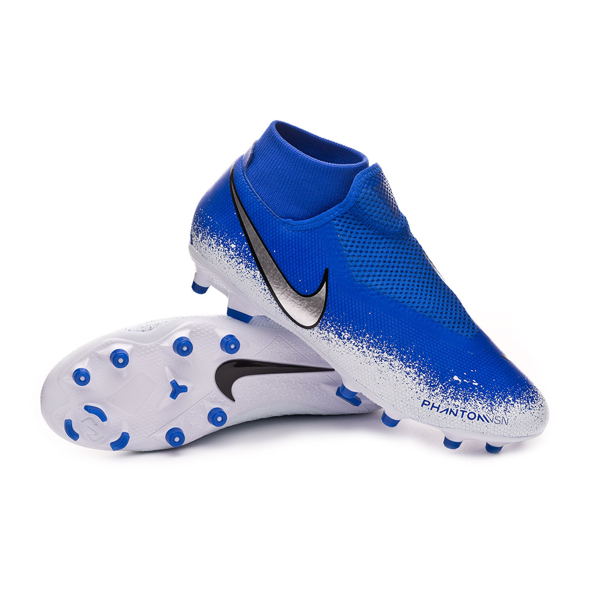 buy popular 18d71 40f15 Football Boots Nike Phantom Vision Academy DF FG MG Racer blue-Chrome-White  - Football store Fútbol Emotion