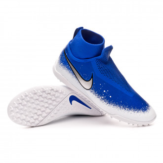 dc590e758ce1c Zapatilla Nike React Phantom Vision Pro DF Turf Racer blue-Chrome-White