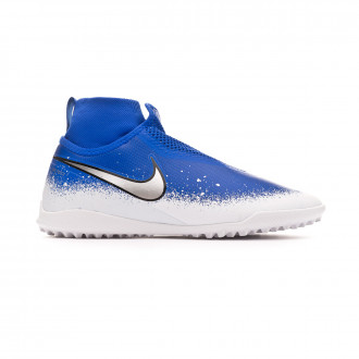 Chaussure de football  Nike React Phantom Vision Pro DF Turf Racer blue-Chrome-White