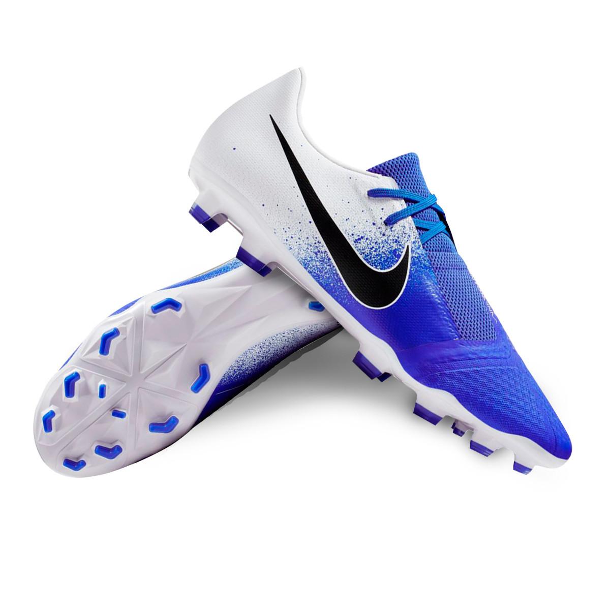 376abfe220b0 Football Boots Nike Phantom Venom Academy FG White-Black-Racer blue -  Football store Fútbol Emotion