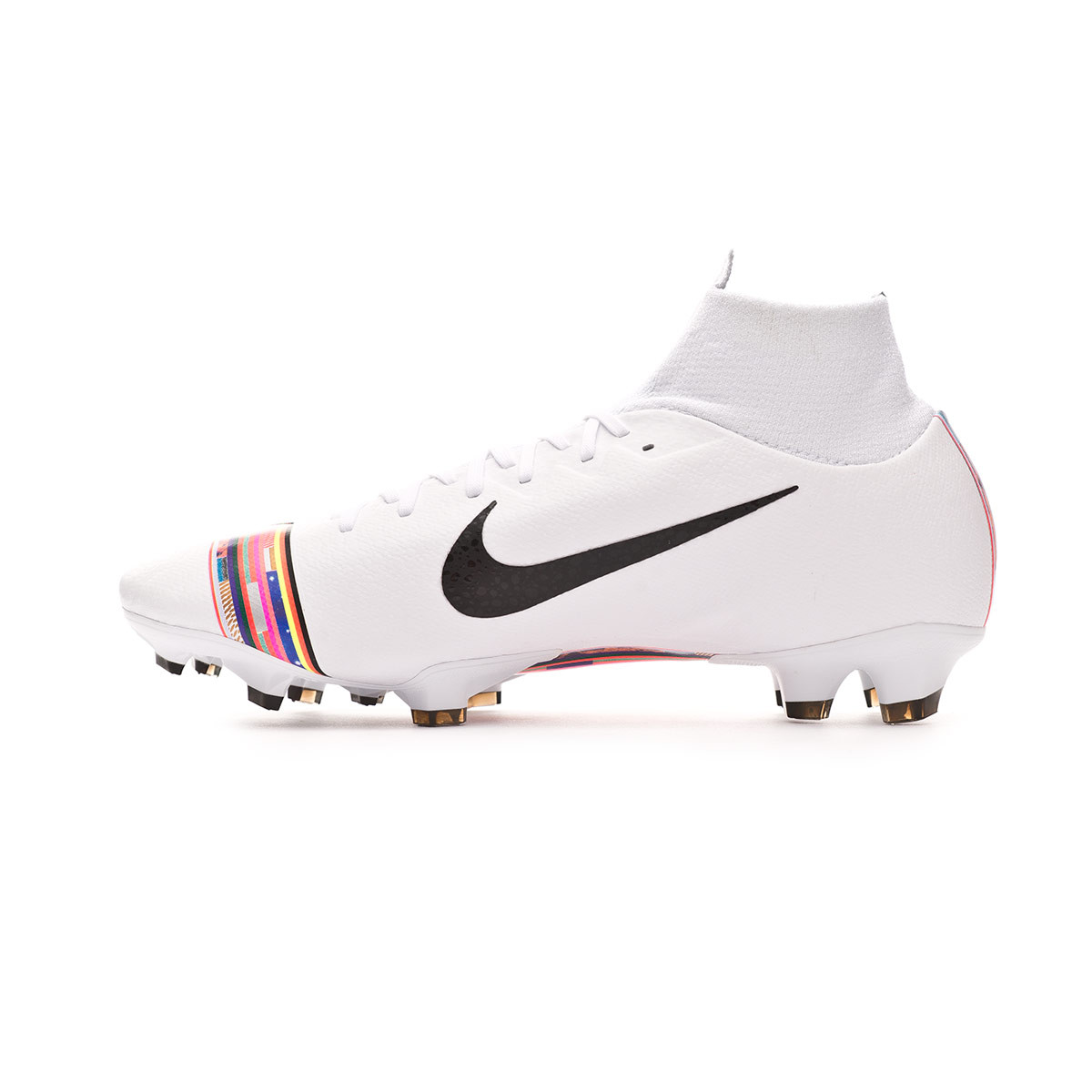 b01e85f4b857 Football Boots Nike Mercurial Superfly VI Pro LVL UP FG Pure platinum-Black-White  - Football store Fútbol Emotion