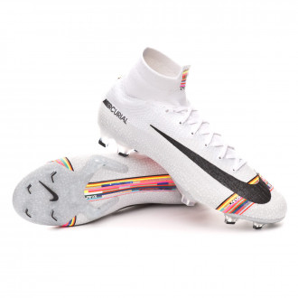 Football Boots  Nike Mercurial Superfly VI Elite LVL UP FG Pure platinum-Black-White