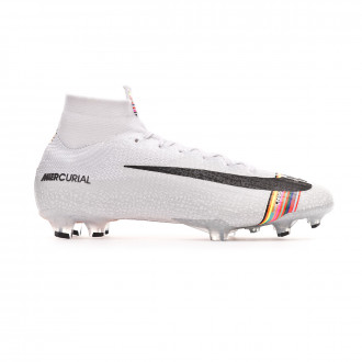 Chaussure de foot  Nike Mercurial Superfly VI Elite LVL UP FG Pure platinum-Black-White