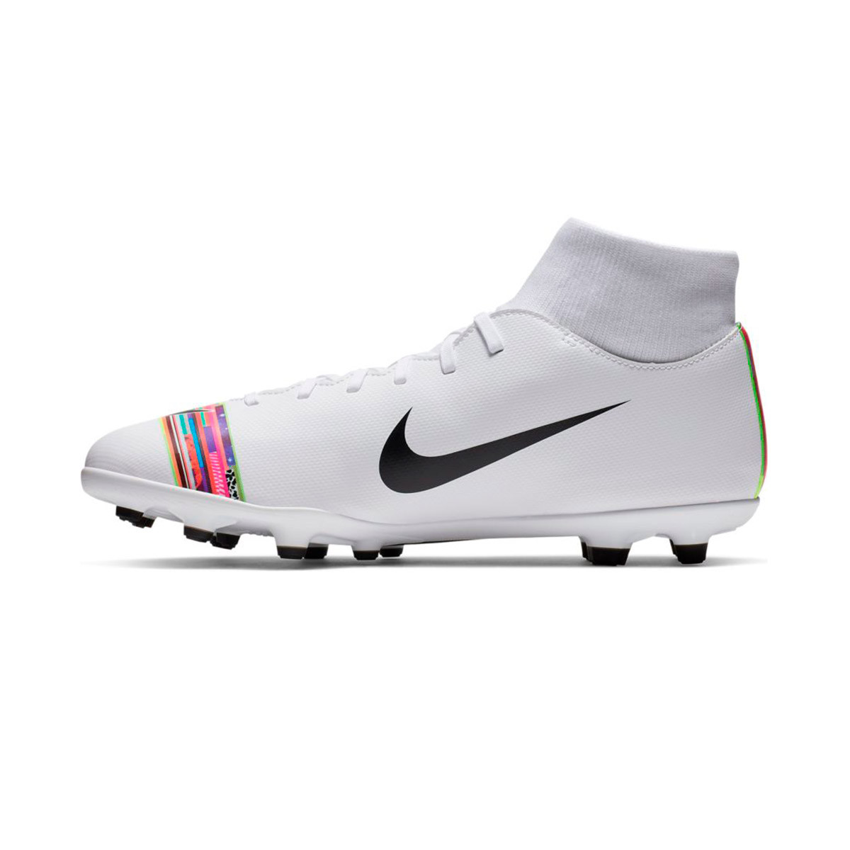 the latest 8b761 68438 Football Boots Nike Mercurial Superfly VI Club LVL UP MG White-Black -  Football store Fútbol Emotion