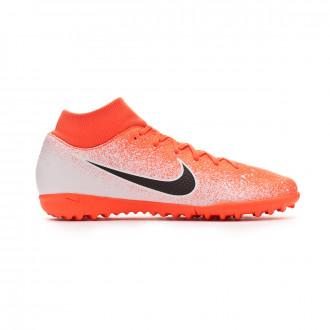 Chaussure de football  Nike Mercurial SuperflyX VI Academy Turf Hyper crimson-Black-White