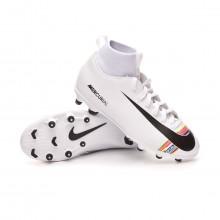 Football Boots Mercurial Superfly VI Club LVL UP MG Niño White-Black