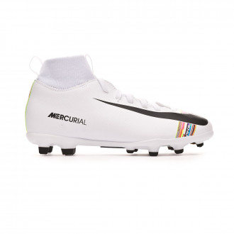 Bota  Nike Mercurial Superfly VI Club LVL UP MG Niño White-Black