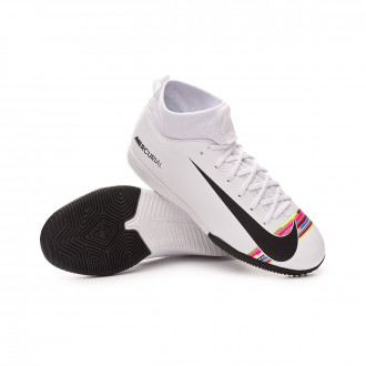 Futsal Boot  Nike Kids Mercurial SuperflyX VI Academy LVL UP IC  White-Black-Pure platinum