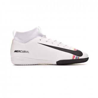 Zapatilla  Nike Mercurial SuperflyX VI Academy LVL UP IC Niño White-Black-Pure platinum