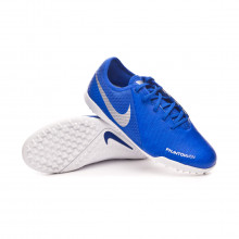 Tenis Phantom Vision Academy Turf Niño Racer blue-Chrome-White