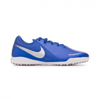 Chaussure de football  Nike Phantom Vision Academy Turf enfant Racer blue-Chrome-White