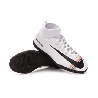 Futsal Boot  Nike Kids Mercurial SuperflyX VI Club LVL PV IC  White-Black