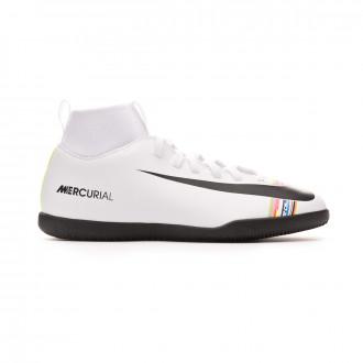 Zapatilla Nike Mercurial SuperflyX VI Club LVL UP IC Niño White-Black