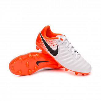 Football Boots  Nike Kids Tiempo Legend VII Academy MG  White-Black-Hyper crimson