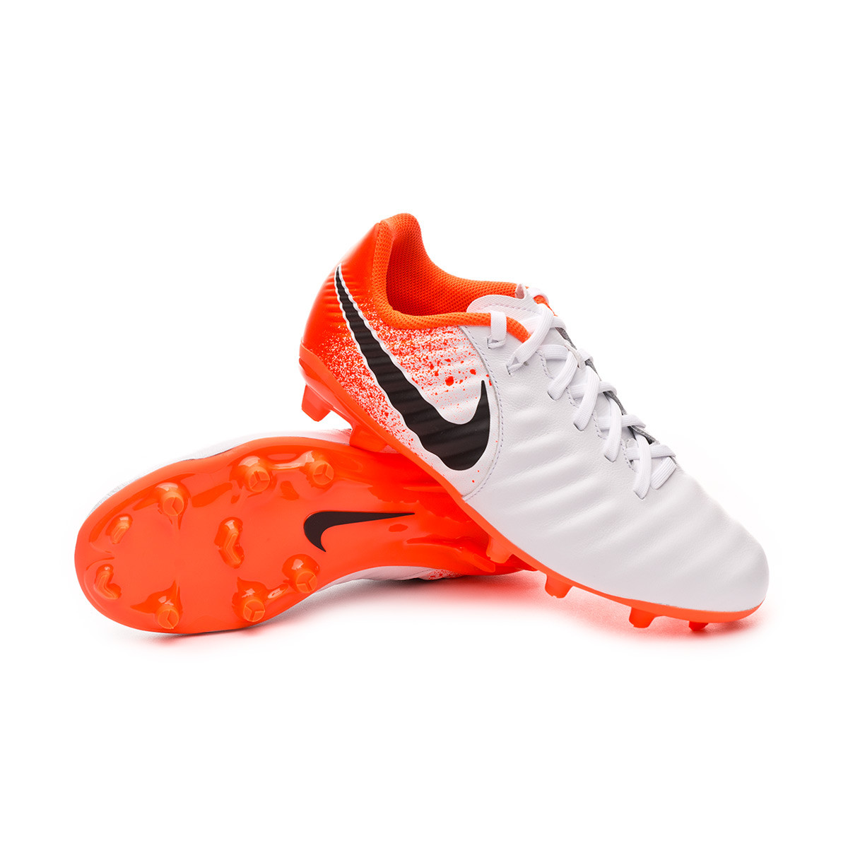 official photos 4e5da 14d71 Bota Tiempo Legend VII Academy MG Niño White-Black-Hyper crimson