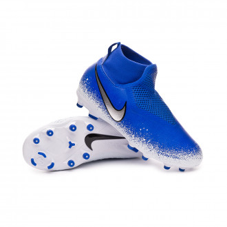 Football Boots  Nike Phantom Vision Academy DF FG/MG Niño Racer blue-Chrome-White