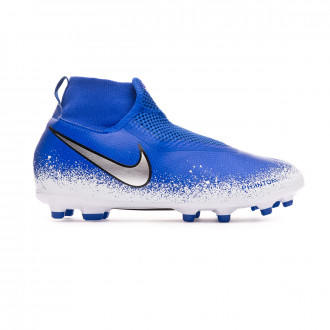 Bota  Nike Phantom Vision Academy DF FG/MG Niño Racer blue-Chrome-White