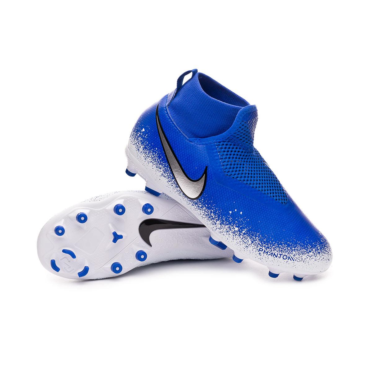 59cad60c55959 Football Boots Nike Phantom Vision Academy DF FG MG Niño Racer blue-Chrome-White  - Football store Fútbol Emotion