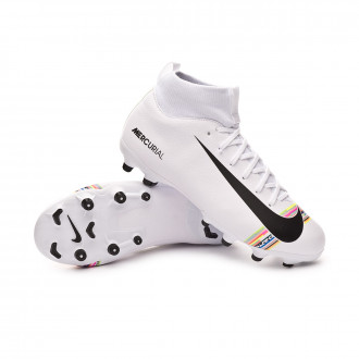 Football Boots  Nike Kids Mercurial Superfly VI Academy LVL UP MG  White-Black-Pure platinum